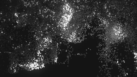 Abstract glowing and flickering particles Footage