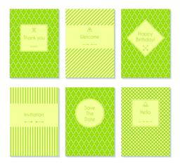 Set of vector card templates ベクター