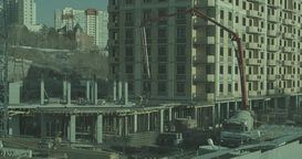 Metropolis .Built High Building. Builders Are Building Homes stock footage