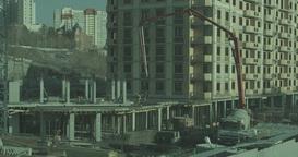 Metropolis .Built High Building. Builders Are Building Homes stock footage
