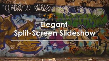 Elegant spleet screen slideshow After Effects Template