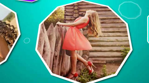 Flat Photo Opener After Effects Template