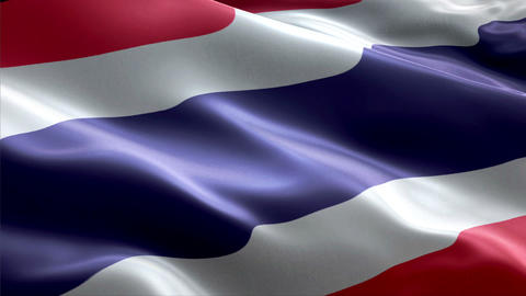Flag Thailand Stock Video Footage
