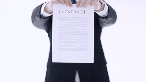 man breaking a contract Footage