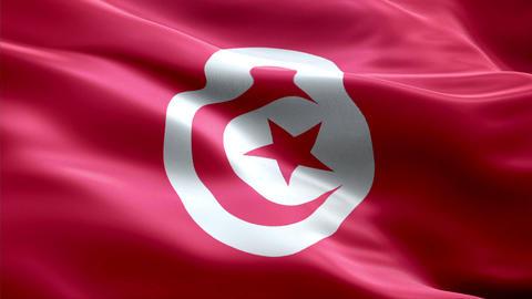 Flag Tunisia Animation