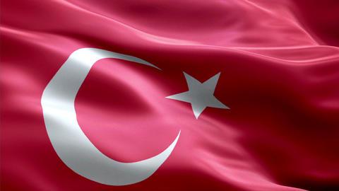 Flag Turkey Animation