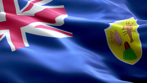 Flag Turks-and-Caicos-Islands Animation