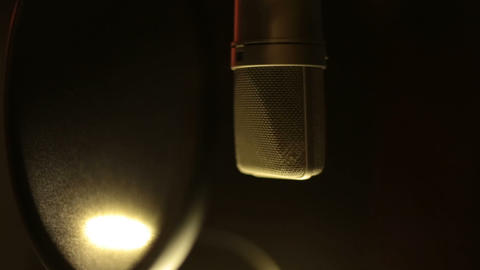 Professional Studio Microphone stock footage