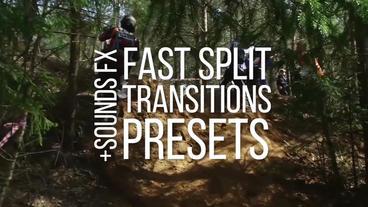 Fast Split Transitions Presets Premiere Pro Template