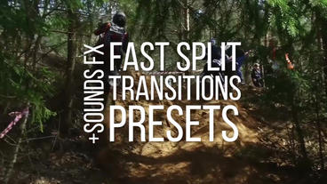 Fast Split Transitions Presets Premiere Proテンプレート
