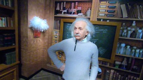 Albert Einstein Statue Footage