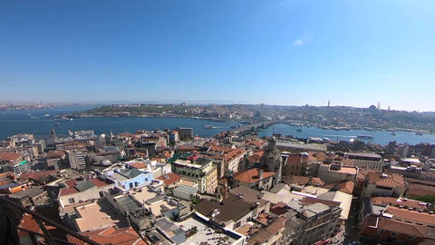 Galata Tower Aerial Live Action