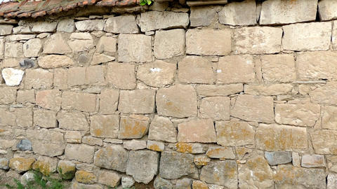 turkish classic stone wall, old stone wall Footage