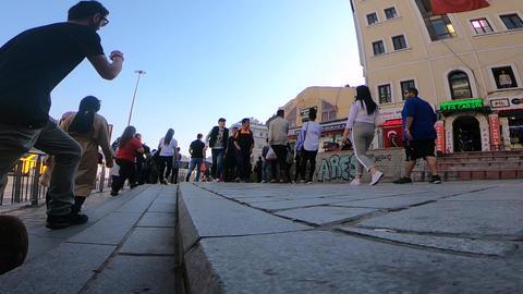 Walking through street istanbul 영상물