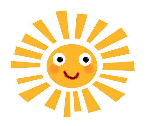 little joyful and colorful sun フォト