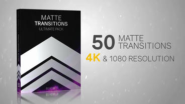 50 Matte Transitions - Ultimate Pack After Effects Templates