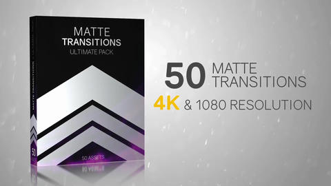 50 Matte Transitions - Ultimate Pack After Effects Template