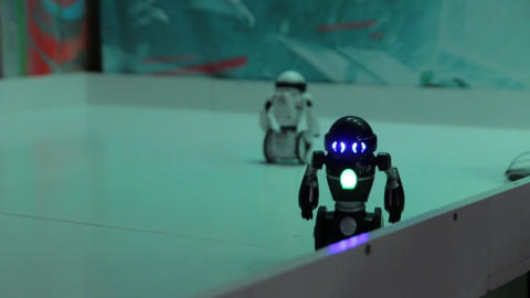 The Robot Fell White Black Wheels Footage