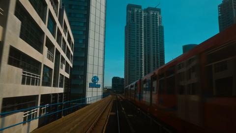 DLR train journey, London, England, UK Footage