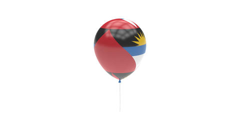 Antigua and Barbuda Balloon Rotating Flag Animation - Alpha Channel - Transparen Animation