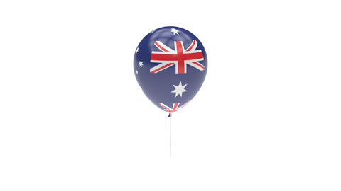 Australian Antarctic Territory Balloon Rotating Flag Animation - Alpha Channel - Animation