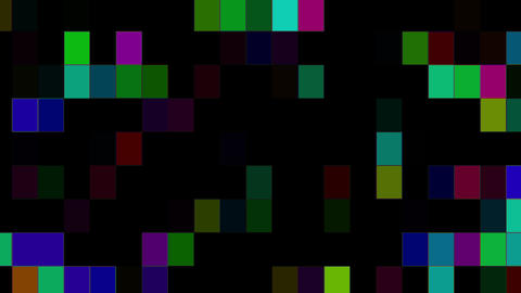 Flickering And Running Colored Squares Background Animation