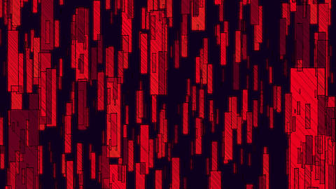 Flowing Of Red Rectangles Animation