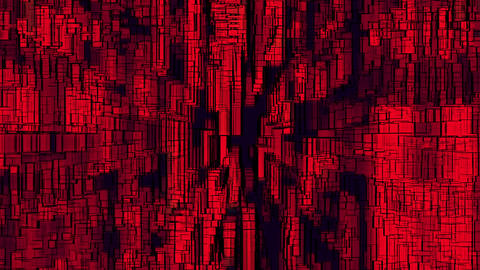 Geometrical Red Background Animation