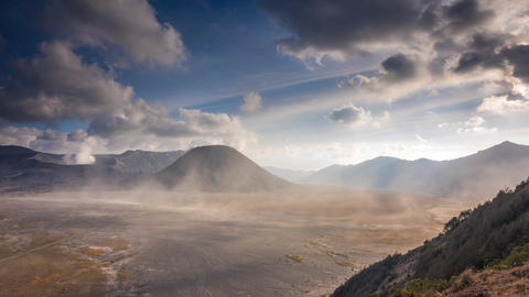 Cloudscape Timelapse At Mount Bromo stock footage