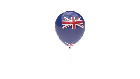 Cayman Islands Balloon Rotating Flag Animation - Alpha Channel - Transparent Animation