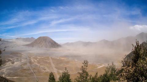 Sandstorm Timelapse at Mount Bromo and Mount Batok Footage