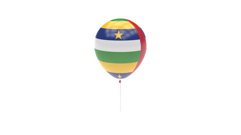 Central African Republic Balloon Rotating Flag Animation - Alpha Channel - Trans Animation