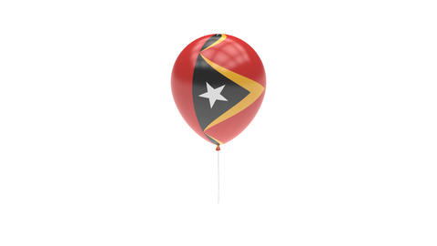 East Timor Balloon Rotating Flag Animation - Alpha Channel - Transparent Animation
