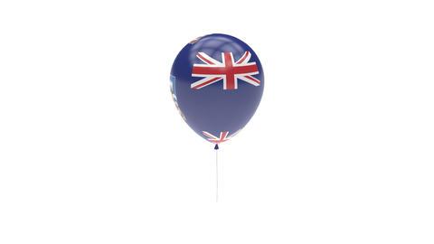 Falkland Islands Balloon Rotating Flag Animation - Alpha Channel - Transparent Animation