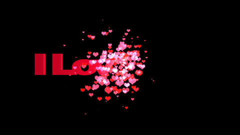 I love you romance animated background Footage