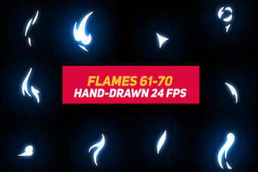 Liquid Elements 2 Flames 61-70 After Effects Template