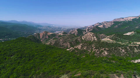 Aerial View Forest and Beautiful Mountains ビデオ