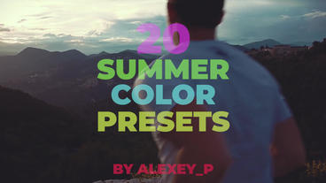 Summer Color Presets Premiere Proテンプレート
