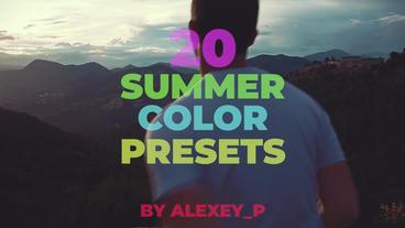 Summer Color Presets Premiere Pro Template