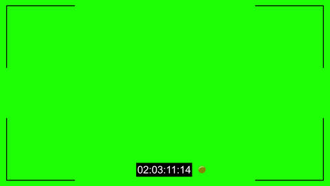 CCTV cam noise and timecode chroma key Animation