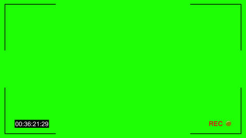 Cctv rec dot chroma key Animation
