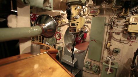 Periscope inside submarine Archivo
