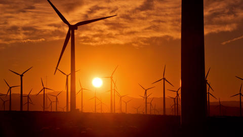 Wind Turbines for Renewable Electric Energy Production Live Action