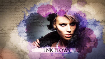WATERCOLOR INK SLIDESHOW After Effectsテンプレート