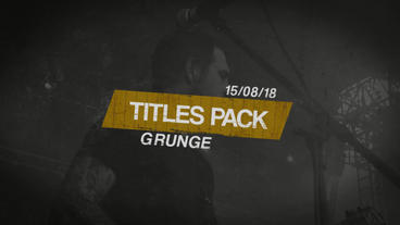Grunge Titles Pack Premiere Proテンプレート