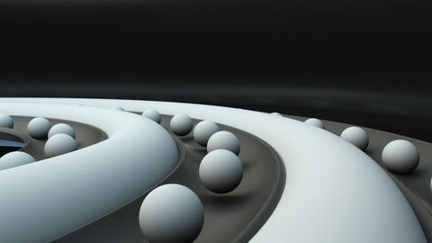 3d abstract rotate white balls Animation