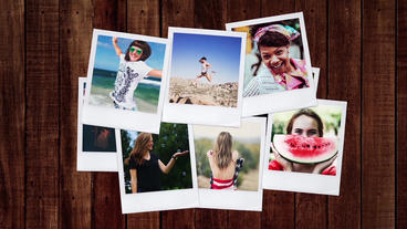 Polaroid Photos Opener After Effects Template