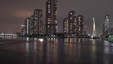 Tokyo night view Footage