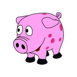Sweet little pink piggy ベクター