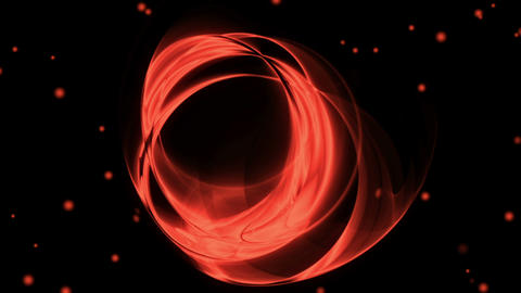 Red Circular Motion with Twinkling Lights Animation